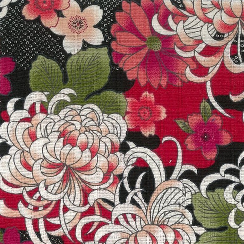 Japanese Fabric: Dori - Black