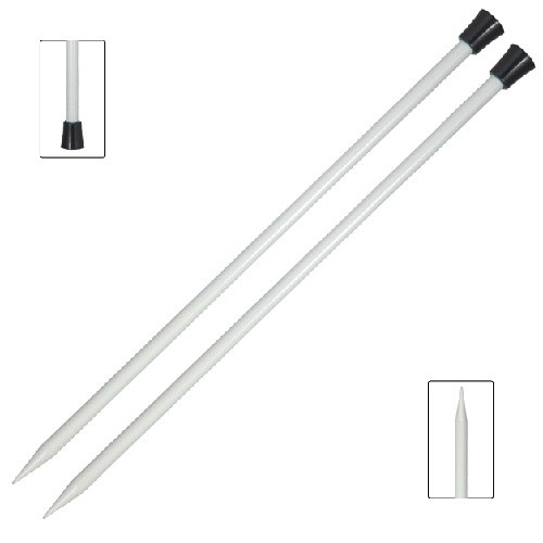 KnitPro: Basix Aluminium, Single Point Needles 30cm