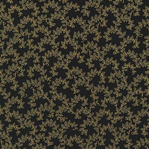 Metallic: Florentine Garden Black