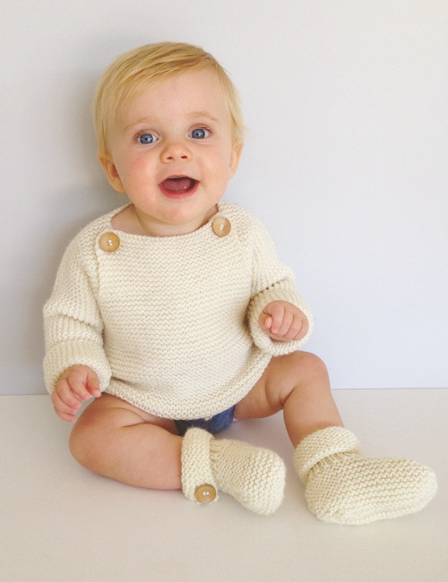 Touch Yarns: Child Tab Front Jumper