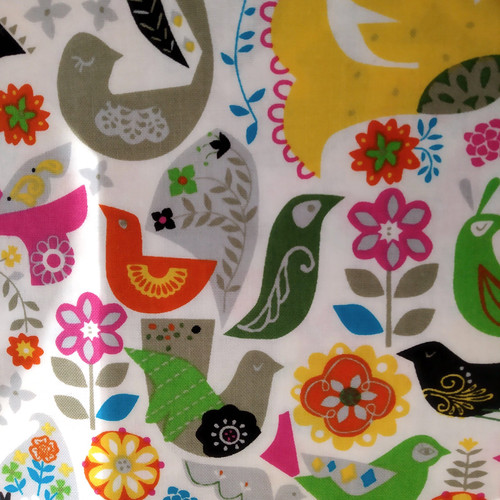 Printed Cottons: Fiesta - White