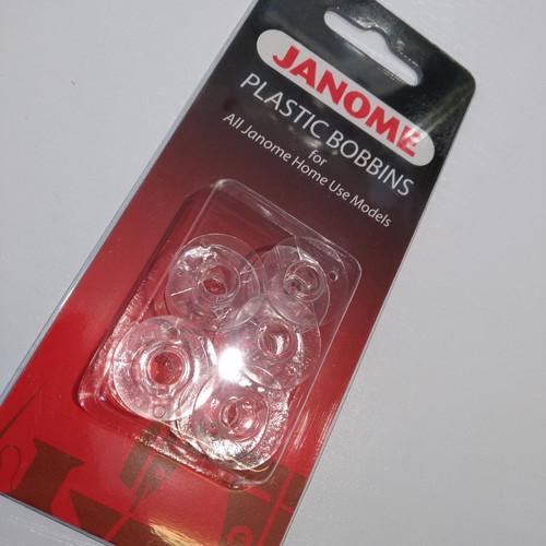 Janome: Plastic bobbins x 5 - Blister pack