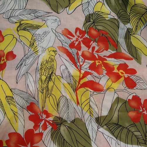 Dress Fabric: Bird Print