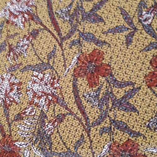Dress Fabric: Floral through a Screen door - SALE