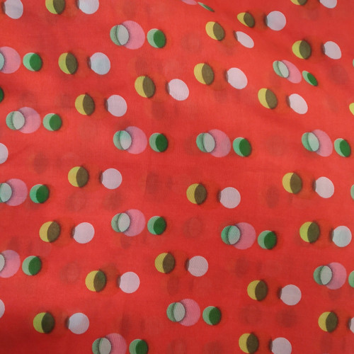 Dress Fabric: Red Dotted