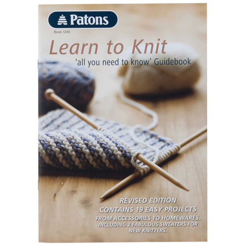 Patons: Learn to Knit guidebook