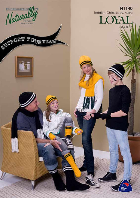 """Naturally: """"Support your team."""" Hats, gloves and socks"""