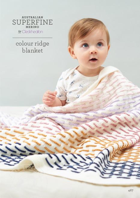 Cleckheaton: Colour Ridge Blanket 467