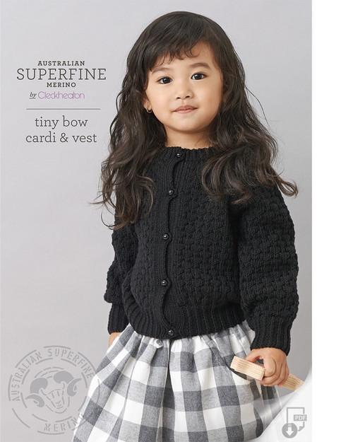 Cleckheaton: Tiny bow and Vest 455