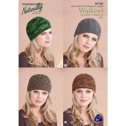 Naturally: Waikiwi 4ply hats N1152