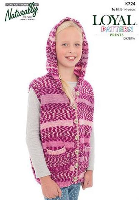 Naturally: Button up Sleeveless hoodie K724