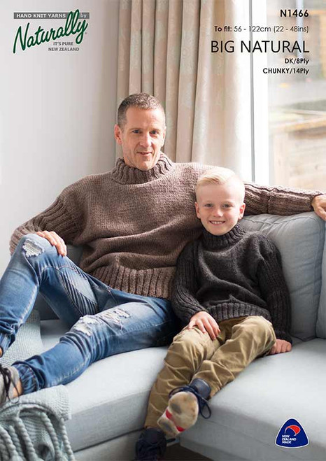 Naturally: Big Natural - Sweater with Rib sleeves N1466