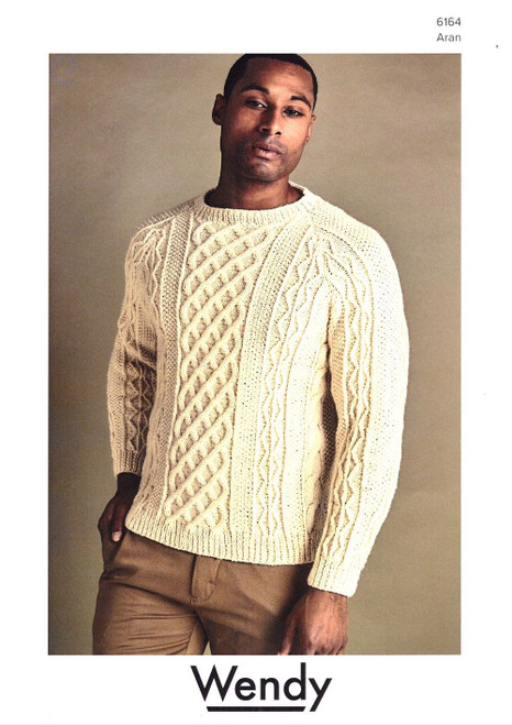 Wendy: Cable Sweater aran 6164
