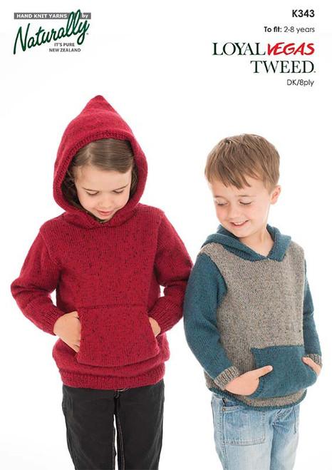 Naturally Yarns: Kids Hoodie Kangaroo Pocket K343