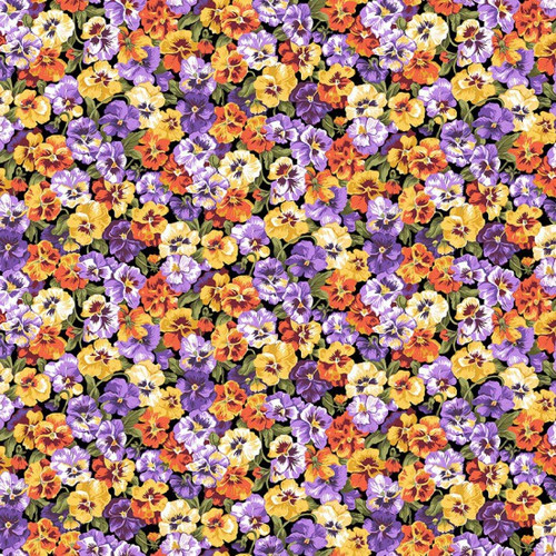 Printed Cottons: Summer Garden - Pansy