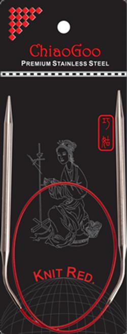 ChiaoGoo SS Red Circular 60cm