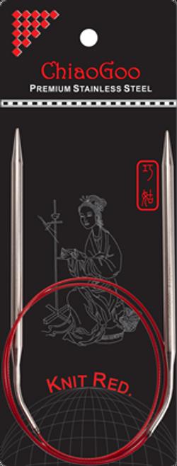 ChiaoGoo SS Red Circular 80cm