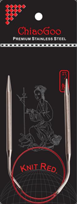 ChiaoGoo Ss Red Circular Needles 40cm