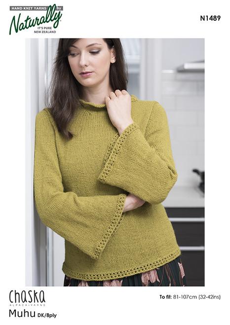 Chaska: Muhu Eyelet Sweater N1489