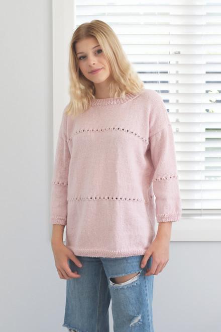 Chaska: Muhu Eyelet Sweater Round Neck N1547