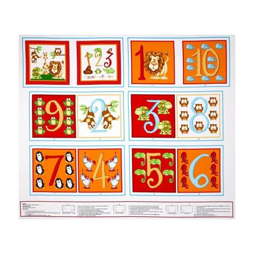 Animal alphabet book panel