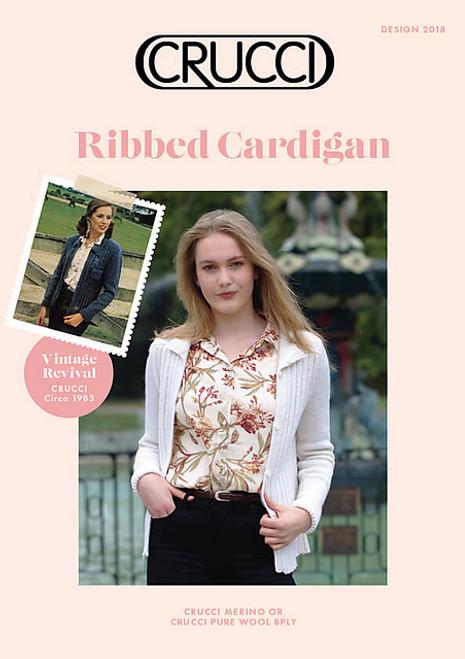 Crucci: Ribbed Cardigan
