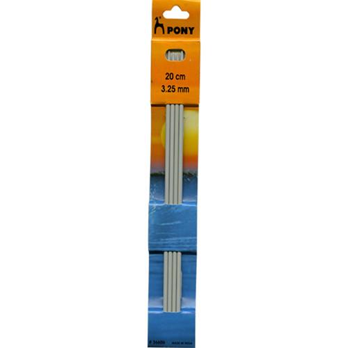 Pony: Aluminium Double Point Needles – 20cm