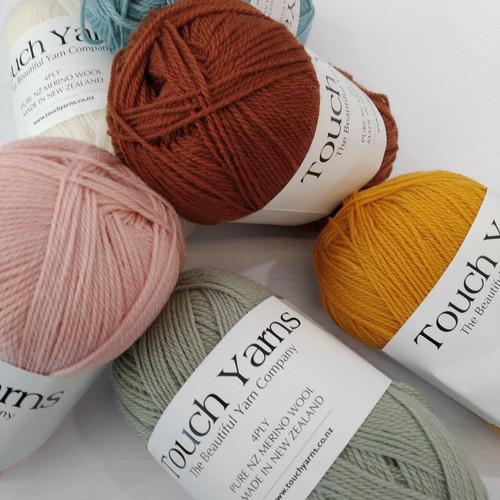 Touch Yarns: Merino 4 Ply