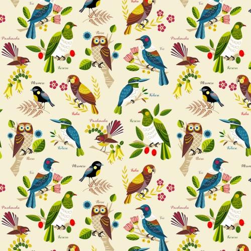 Kiwiana: Native Bloom - Birds