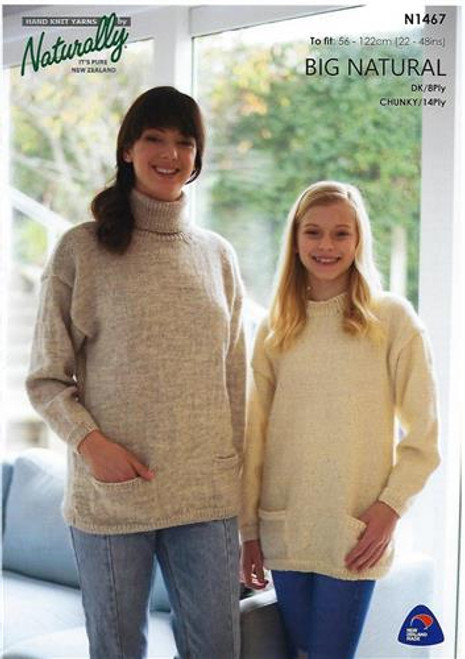 Naturally: Big Natural - Sweater with Pockets