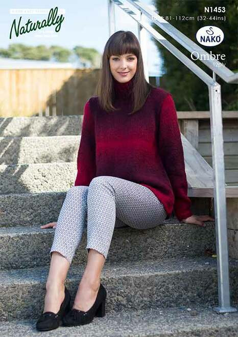 Naturally: Nako Ombre - A shaped sweater