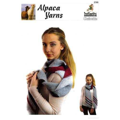 Alpaca Yarns: Chainette Angular Scarf (2705)