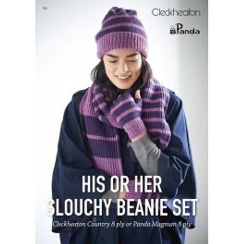 Cleckheaton/Panda: His or Her Slouchy Beanie Set