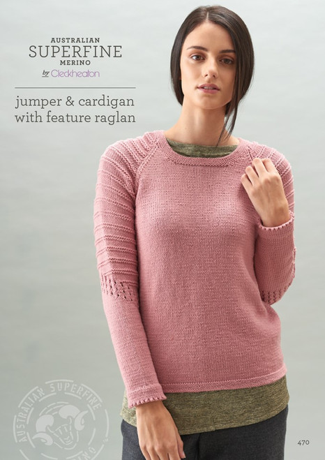 Cleckheatons: Jumper and Cardigan with Feature Raglan