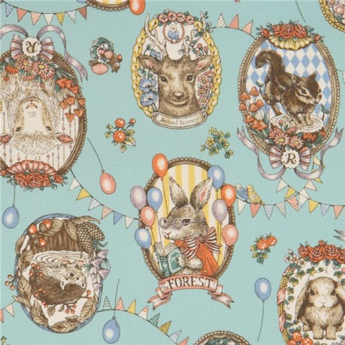 Printed Cottons: In the Forest  - Animal Portraits