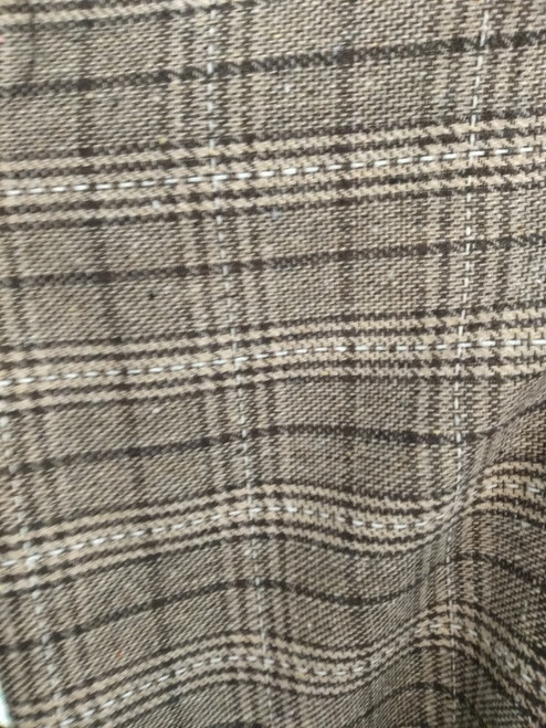 Wool Check with Thread detail - SALE