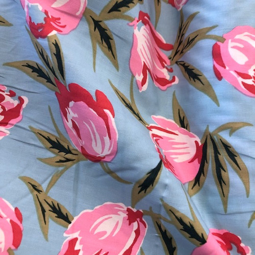 Dress Fabric:  Rosu