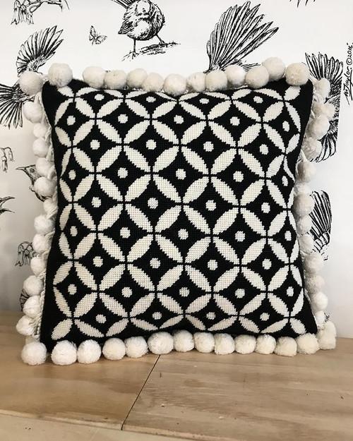 KSC: Porowhita Cushion - Charcoal & Cream