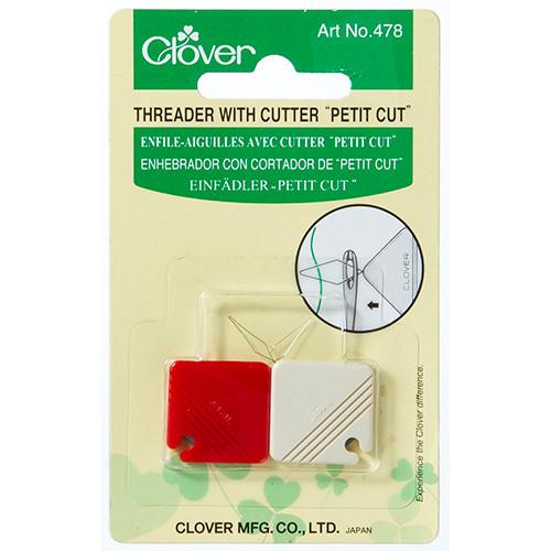Clover Threader with Cutter (Petit Cut)