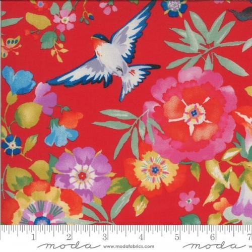 Dress Fabric: Flight of Fancy - Geranium