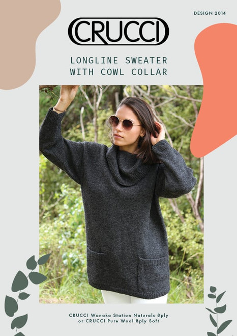 Crucci: Longline Sweater with Cowl Collar 2014