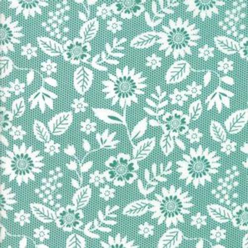 Aqua/Teal: Sugar Pie Lace Garden by Lella Boutique