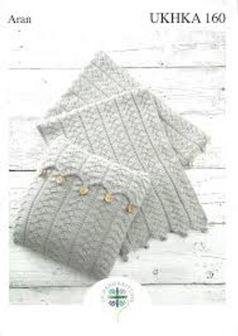 Aran Cushion & Blanket UKHKA 160