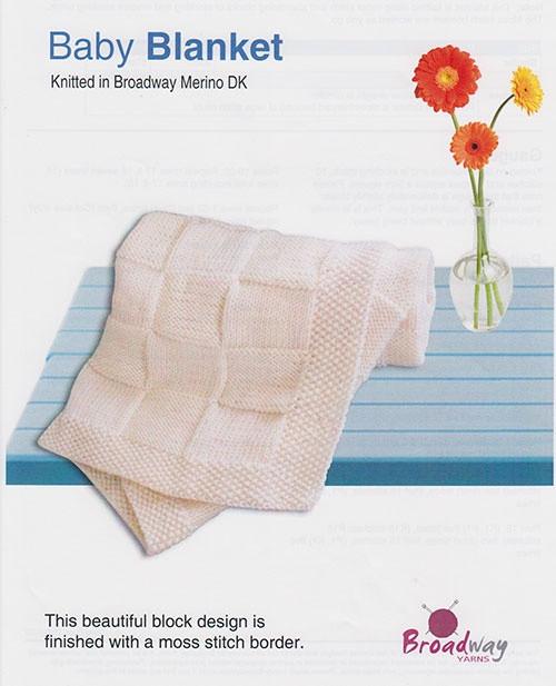 Broadway Yarns: Baby Blanket, Basket weave