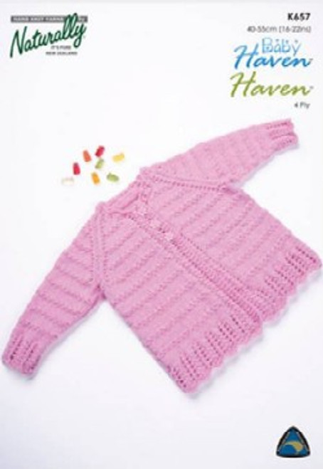 Naturally Baby Haven: Cardigan with lace edging