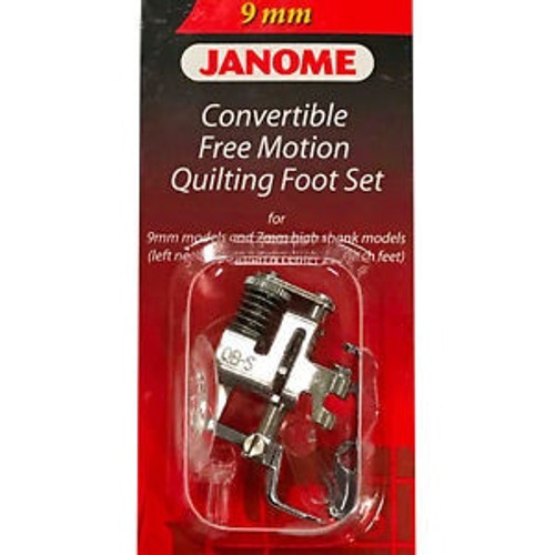Janome - Convertible free motion foot set (9mm)