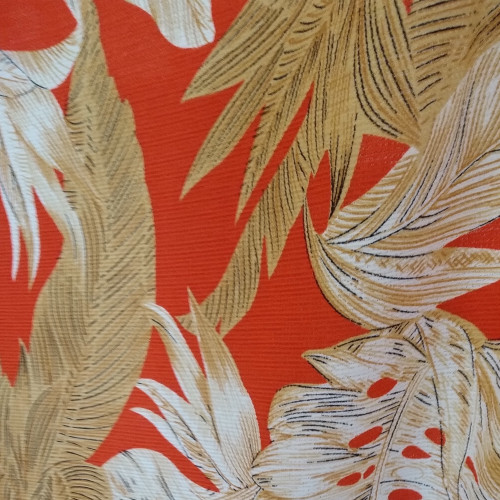 Dress Fabric: Coral Flowers