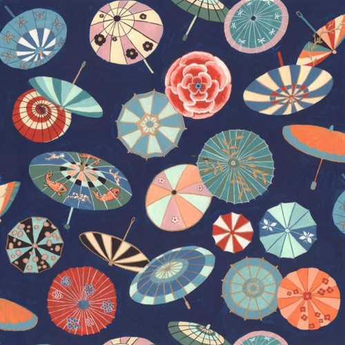 Metallic Japanese Fabric: Yukata Parasol