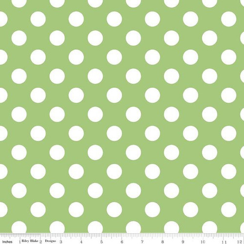 Green: Riley Blake Dots C360