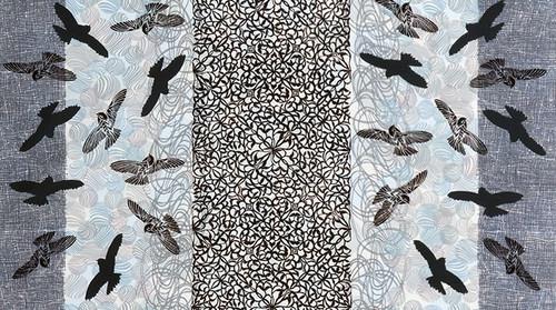 Printed Cottons Musings Kaufman Charcoal 17316